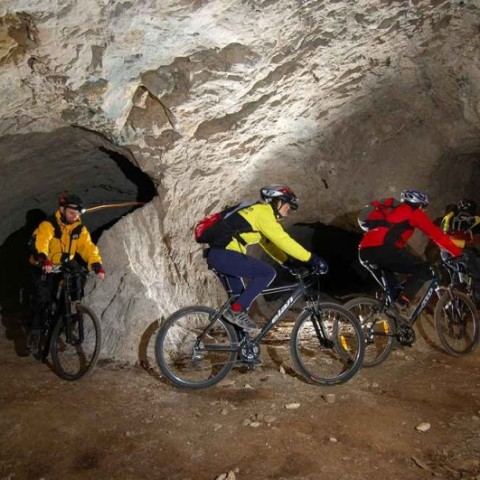 Mine tour by bicycle